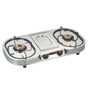 Stainless Steel Jyotika Double Burner Lpg Stove