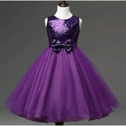 Violet Kids Party Wear Frock