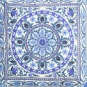 Blue Mandala Embroidery Cushion Cover