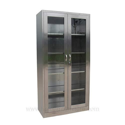 Superior Stainless Steel Bookcase With Glass Door