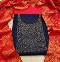 Pure Cotton Dress Suit Material For Ladies