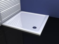 White Square Shower Tray