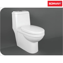 Round Deck Mounted Somany One Piece Toilets - Krave - S Trap for Bathroom Fitting
