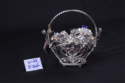 Silver Sambhav Products Basket With Flower (small)