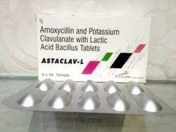 Amoxycillin 500 mg Clavulanate Acid 125mg Lactic Acid Bacillus