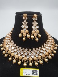Traditional Artificial Jewelry Antique Kundan Necklace