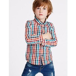 Checked Cotton Children Casual Shirt
