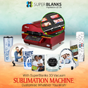 3D Vacuum Sublimation Heat press Big Print Compact  CE certified