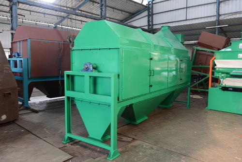 rotary drum sieve maize cleaning machine