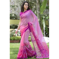 Pink Formal Wear Casual Cotton Saree