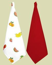 Fruit Printed And Plain Kitchen Towel