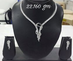 925 Sterling Silver Necklace Nicklefree Rodium