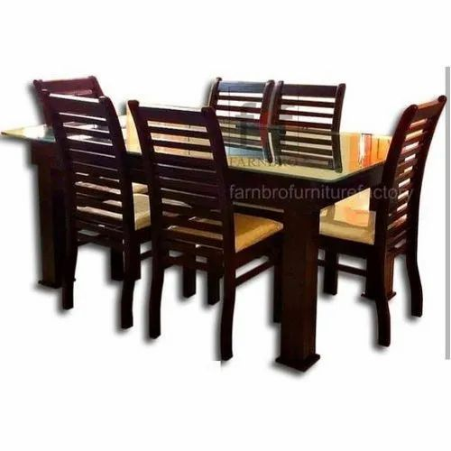 Farnbro Wooden And Glass Modern Wooden Dining Table Set For Home Rs 27500 Set Id 21287850097