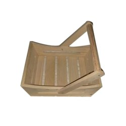 Brown Wooden Gift Basket