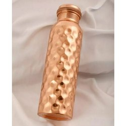 Enable Nature Standard Copper Hammered Bottle, Screw