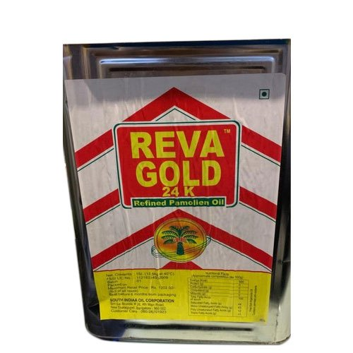 15 Litre Reva Gold Palm Olein Oil Tin Speciality Low Cholesterol Rs 1330 Piece Id 21255031312