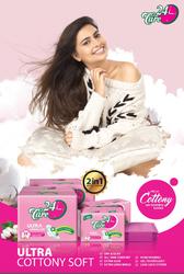 24care Pure Cottony Sanitary Napkins