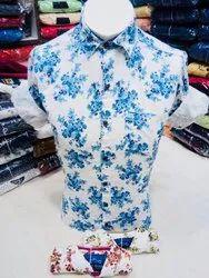 AIDAN PAUL Cotton Printed Shirts For Mens