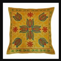 Hand Ari Work Square Cushion Cover