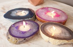 Agate Candle holders / T lites