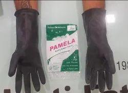 Black Rubber Hand Gloves