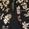 Black Poly Crepe Cape Sleeve Kurta(JNE3334)