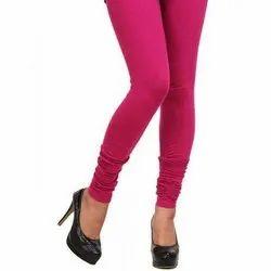 Straight Fit Pink Ladies Lycra Legging