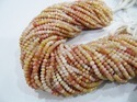 Pink Opal Rondelle Faceted Beads