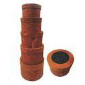 Century Overseas Brown Round Gift Box
