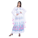 White Embroidered Frock Suit