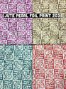 Jute Pearl Foil Print Fabric