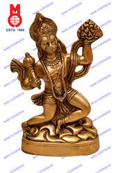 Hanuman Flying W/Rock Statue