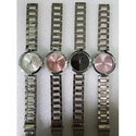 Brand Ladies Silver Tone Chain Wrist Watch