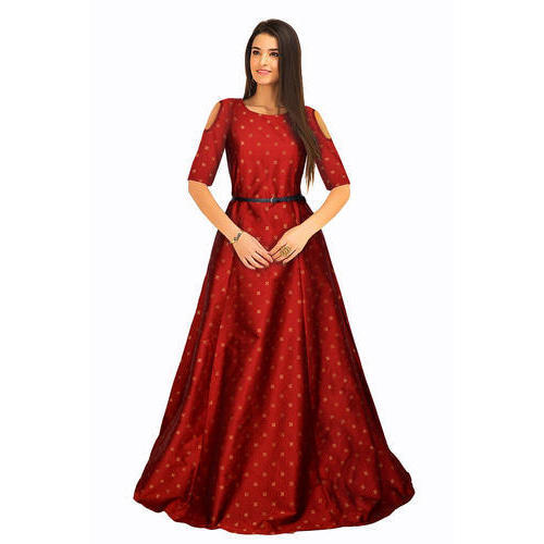 ad177bb38c66 Half Sleeves Ladies Cold Shoulder Gown, Rs 1100 /piece, Miss Monk ...