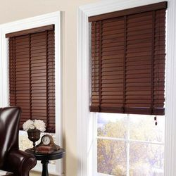 Wooden Dark Coffee Color Horizontal Blinds