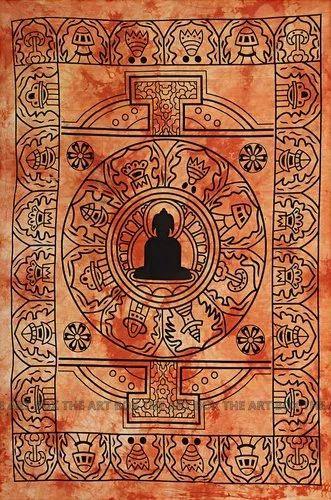100% Cotton Throw Meditation Buddha Poster Tapestry Mandala Wall Hanging