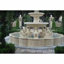 Marble Stone Animal Fountain For Decorative Purpose