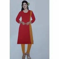 Rayon Casual Wear Ladies Cotton Kurti, Size: XL, Wash Care: Handwash