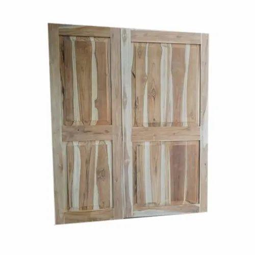 Teak Wood Wooden Double Door