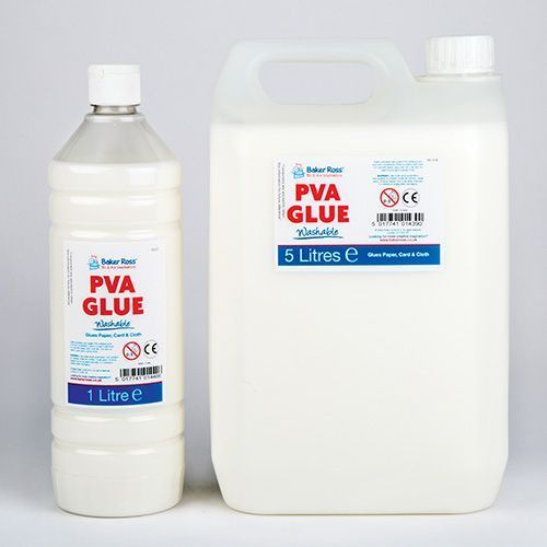 PVA Glue Adhesive, 1 Litre And 5 Litre