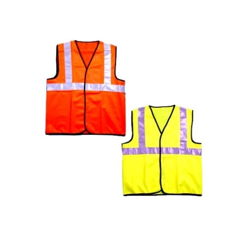 Orange Polyester Reflective Jacket, Size: Medium And Large