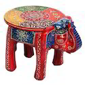 Wooden Elephant Stool Handicraft  448