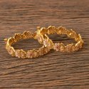 Classic Antique Openable Bangles With Gold Plating 202702