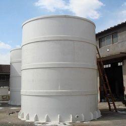 White Polypropylene PP/FRP Chemical Storage Tank