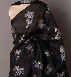 Silk Cotton Organsa saree, 5.5 m (separate blouse piece)