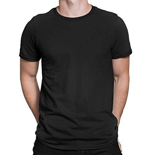 Cotton Half Sleeve Black Plain T-Shirts fd27f6da6b6