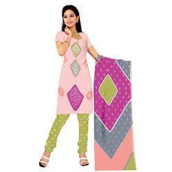 Pink Bandhani Print Suit