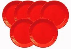 Mehul 7 Plastic, Round Half/Snack Plate