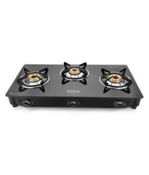 SURYA 3b Gt SS Black Cooktop, For Kitchen