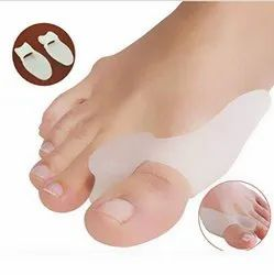 Small Soft Silica Gel Milk White Foot Protector